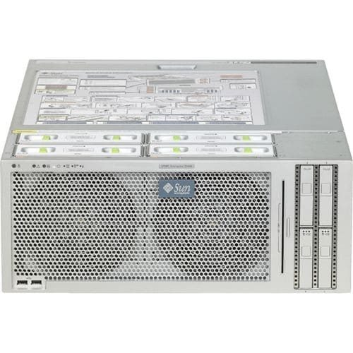 Sun SPARC Enterprise T5440 SEVPCJF1Z 4U Rack Server - 2 x Sun UltraSPARC T2 Plus 1.20 GHz - 32 GB Installed - 292 GB HDD - Serial Attached SCSI (SAS) Controller - 0, 1 RAID Levels - 4 x 4.48 kW