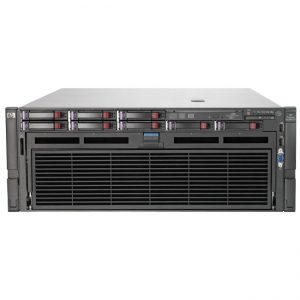 HP ProLiant DL580 G7 4U Rack Server - 4 x Intel Xeon E7-4870 Deca-core (10 Core) 2.40 GHz - 128 GB Installed DDR3 SDRAM - Serial Attached SCSI (SAS) Controller - 0, 1, 5, 10, 50 RAID Levels - 4 x 1.20 kW