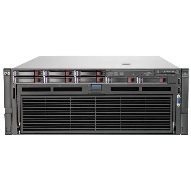 HP ProLiant DL580 G7 4U Rack Server - 4 x Intel Xeon E7-4870 Deca-core (10 Core) 2.40 GHz - 128 GB Installed DDR3 SDRAM - Serial Attached SCSI (SAS) Controller - 0, 1, 5, 10, 50 RAID Levels - 4 x 1.20 kW