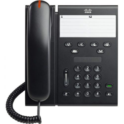 Cisco 6911 IP Phone - Cable - Desktop, Wall Mountable - Charcoal