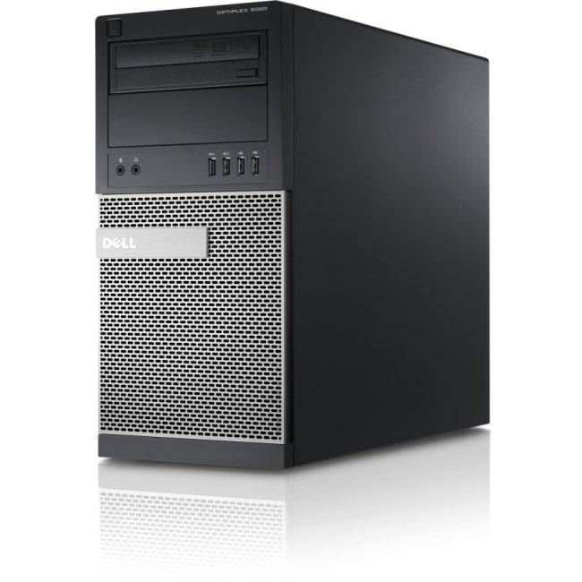 Dell OptiPlex 9020 Desktop Computer - Intel Core i7 i7-4790 3.60 GHz - 16 GB DDR3 SDRAM - 1 TB HDD - 128 GB SSD - Windows 7 Professional 64-bit - Mini-tower - Black