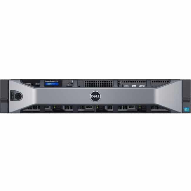Dell PowerEdge R730 2U Rack Server - 1 x Intel Xeon E5-2620 v3 Hexa-core (6 Core) 2.40 GHz - 16 GB Installed DDR4 SDRAM - 1 TB (1 x 1 TB) HDD - 12Gb/s SAS, Serial ATA/600 Controller - 0, 1, 5, 6, 10, 50, 60 RAID Levels - 1 x 750 W
