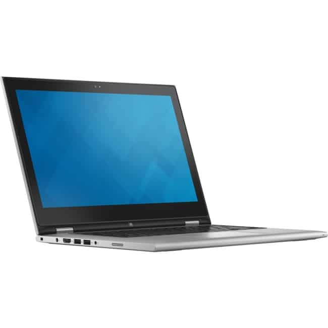 "Dell Inspiron 13 7000 13 7348 13.3"" LCD 2 in 1 Notebook - Intel Core i7 (5th Gen) i7-5500U Dual-core (2 Core) 2.40 GHz - 8 GB DDR3L SDRAM - 256 GB SSD - Windows 8.1 64-bit (English) - 1920 x 1080 - TrueLife, In-plane Switching (IPS) Technology - Convertible - Silver"