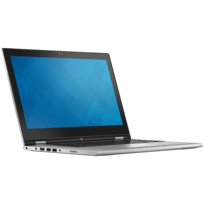 "Dell Inspiron 13 7000 13-7348 13.3"" Touchscreen LCD 2 in 1 Notebook - Intel Core i5 (5th Gen) i5-5200U Dual-core (2 Core) 2.20 GHz - 8 GB DDR3L SDRAM - 256 GB SSD - Windows 8.1 64-bit (English) - 1920 x 1080 - TrueLife, In-plane Switching (IPS) Technology - Convertible - Silver"