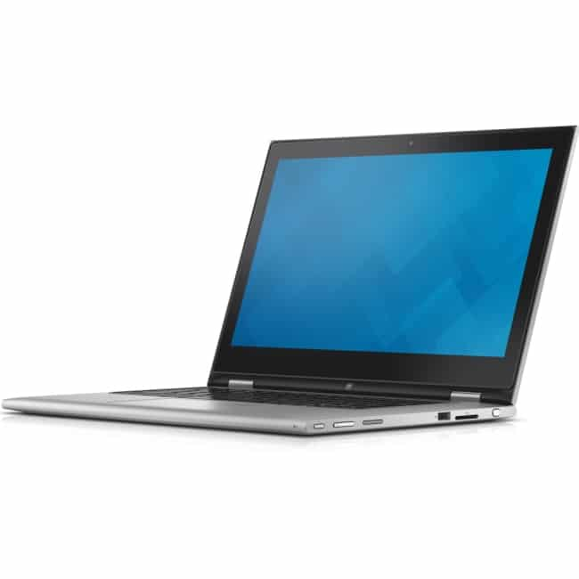 """Dell Inspiron 13 7000 13 7348 13.3"""" LCD 2 in 1 Notebook - Intel Core i5 (5th Gen) i5-5200U Dual-core (2 Core) 2.20 GHz - 4 GB DDR3L SDRAM - 500 GB HDD - Windows 10 Home 64-bit (English) - 1366 x 768 - TrueLife, In-plane Switching (IPS) Technology - Convertible - Silver"""