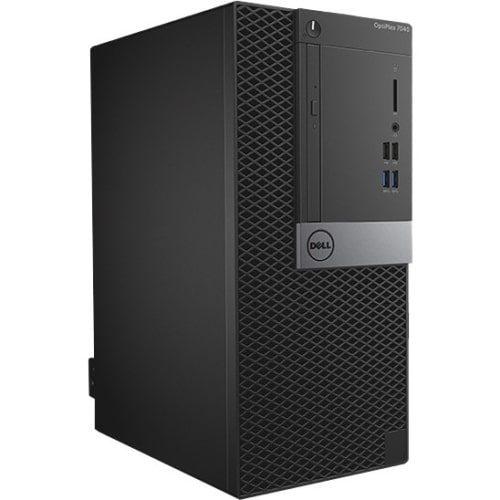 Dell OptiPlex 7040 Desktop Computer - Intel Core i7 - 8 GB DDR4 SDRAM - 1 TB HDD - Windows 7 Professional - Mini-tower - Black