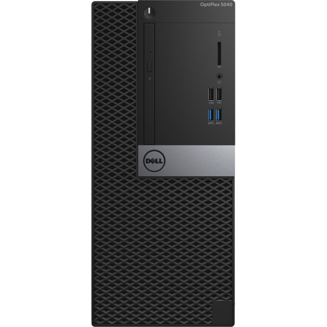 Dell OptiPlex 5040 Desktop Computer - Intel Core i7 - 8 GB DDR3L SDRAM - 500 GB HDD - Windows 7 Professional 64-bit - Mini-tower - Black