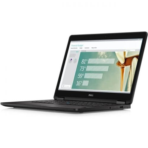 "Dell Latitude 7000 E7270 12.5"" Ultrabook - Intel Core i5 (6th Gen) i5-6300U Dual-core (2 Core) 2.40 GHz - 8 GB DDR4 SDRAM - 180 GB SSD - Windows 7 Professional 64-bit (English/French/Spanish) - 1366 x 768 - Black"