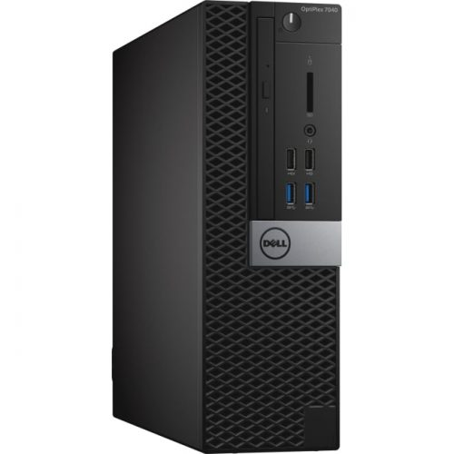 Dell OptiPlex 7040 Desktop Computer - Intel Core i5 (6th Gen) i5-6500 3.20 GHz - 8 GB DDR4 SDRAM - 1 TB HDD - Windows 10 Pro 64-bit (English) - Small Form Factor - Black