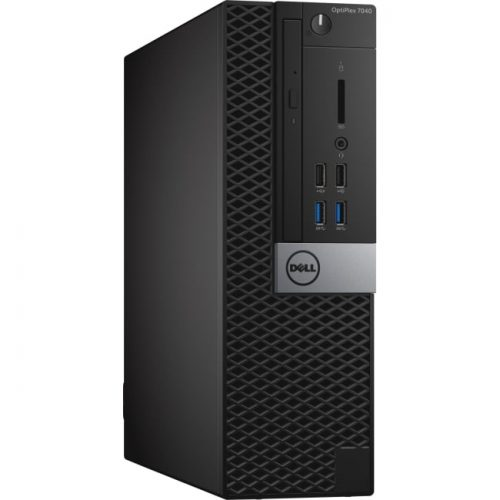 Dell OptiPlex 7040 Desktop Computer - Intel Core i7 (6th Gen) i7-6700 3.40 GHz - 8 GB DDR4 SDRAM - 1 TB HDD - Windows 10 Pro - Small Form Factor - Black