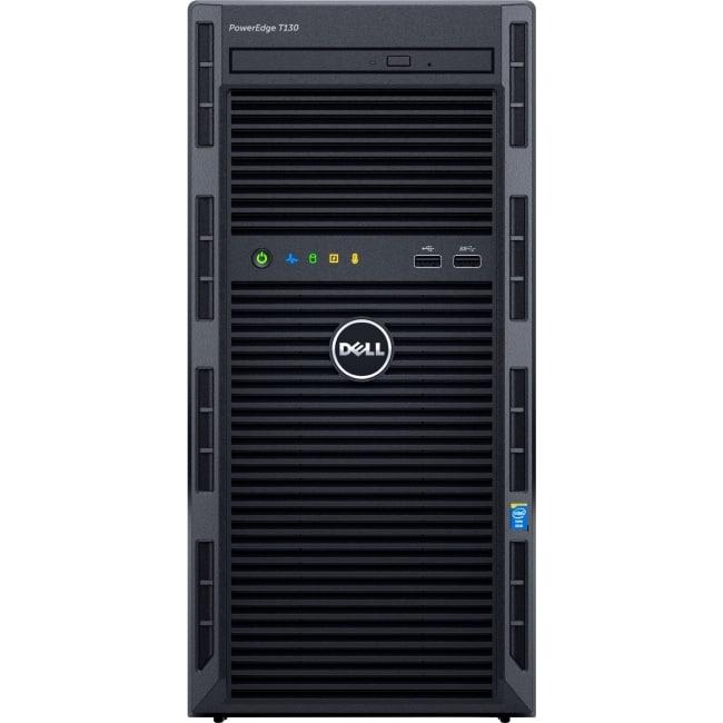 Dell PowerEdge T130 Mini-tower Server - 1 x Intel Xeon E3-1240 v5 Quad-core (4 Core) 3.50 GHz - 8 GB Installed DDR4 SDRAM - 1 TB (1 x 1 TB) Serial ATA/600 HDD - 12Gb/s SAS, Serial ATA/600 Controller - 0, 1, 5, 10, 50 RAID Levels - 290 W