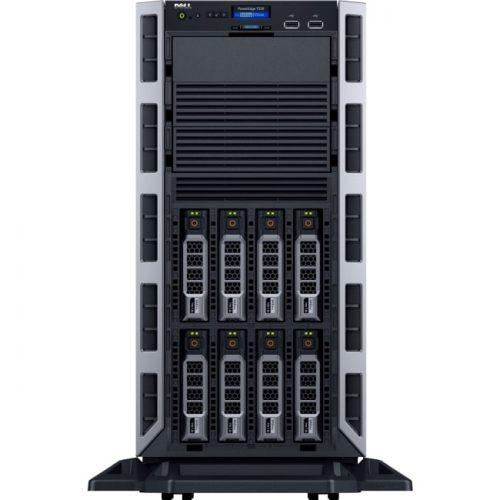 Dell PowerEdge T330 5U Tower Server - 1 x Intel Xeon E3-1240 v5 Quad-core (4 Core) 3.50 GHz - 8 GB Installed DDR4 SDRAM - 300 GB (1 x 300 GB) 12Gb/s SAS HDD - Serial ATA/600, 12Gb/s SAS Controller - 0, 1, 5, 10, 50 RAID Levels - 1 x 495 W