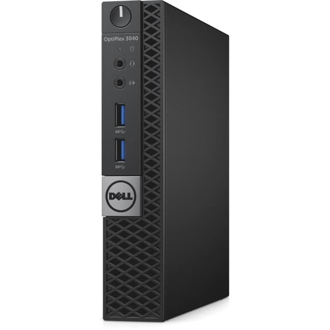 Dell OptiPlex 3000 3040 Desktop Computer - Intel Core i5 (6th Gen) i5-6500T 2.50 GHz - 4 GB DDR3 SDRAM - 500 GB HDD - Windows 10 Pro 64-bit (English/French/Spanish) - Micro PC