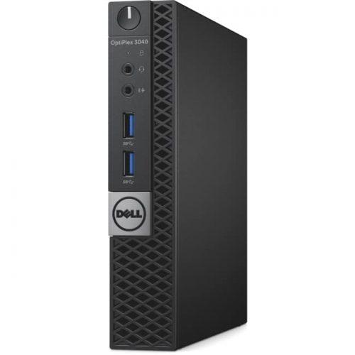 Dell OptiPlex 3000 3040 Desktop Computer - Intel Core i5 (6th Gen) i5-6500T 2.50 GHz - 4 GB DDR3 SDRAM - 128 GB SSD - Windows 10 Pro 64-bit (English/French/Spanish) - Micro PC