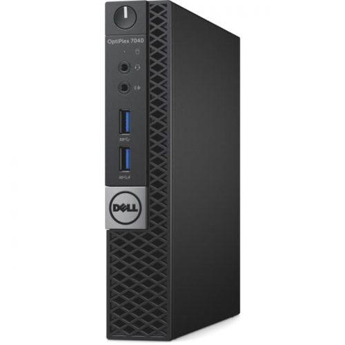 Dell OptiPlex 7040 Desktop Computer - Intel Core i7 (6th Gen) i7-6700T 2.80 GHz - 8 GB DDR4 SDRAM - 128 GB SSD - Windows 10 Pro 64-bit (English/French/Spanish) - Micro PC