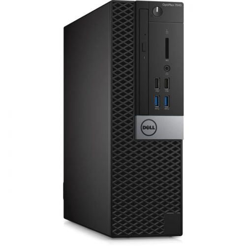 Dell OptiPlex 7040 Desktop Computer - Intel Core i7 (6th Gen) i7-6700 3.40 GHz - 16 GB DDR4 SDRAM - 256 GB SSD - Windows 10 Pro 64-bit (English/French/Spanish) - Small Form Factor