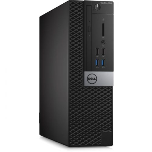 Dell OptiPlex 7040 Desktop Computer - Intel Core i7 (6th Gen) i7-6700 3.40 GHz - 8 GB DDR4 SDRAM - 256 GB SSD - Windows 10 Pro - Small Form Factor
