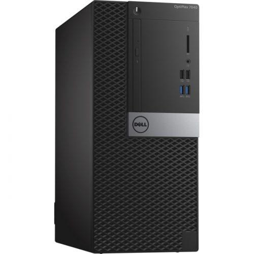 Dell OptiPlex 7040 Desktop Computer - Intel Core i7 (6th Gen) i7-6700 3.40 GHz - 8 GB DDR4 SDRAM - 1 TB HDD - Windows 10 Pro 64-bit (English/French/Spanish) - Mini-tower