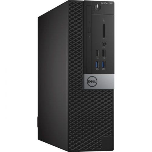 Dell OptiPlex 7040 Desktop Computer - Intel Core i7 (6th Gen) i7-6700 3.40 GHz - 8 GB DDR4 SDRAM - 1 TB HDD - Windows 10 Pro - Small Form Factor - Black, Silver