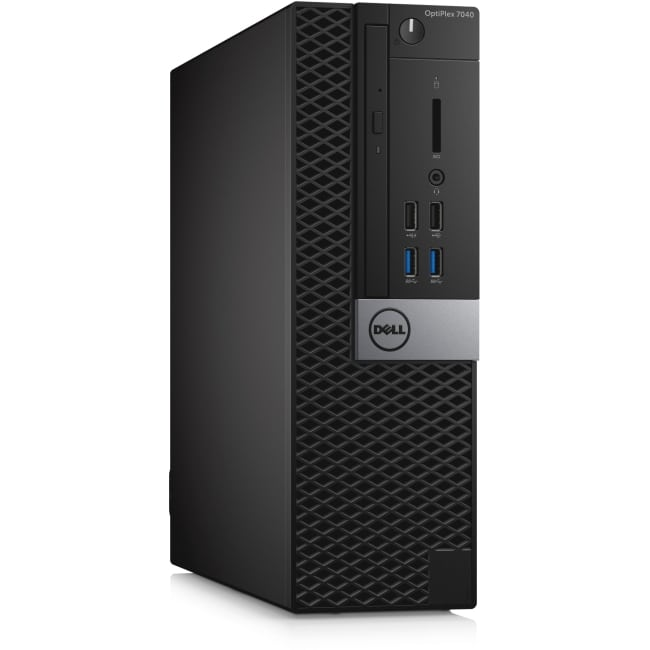 Dell OptiPlex 7040 Desktop Computer - Intel Core i7 (6th Gen) i7-6700 3.40 GHz - 8 GB DDR4 SDRAM - 1 TB HDD - Windows 10 Pro (English) - Small Form Factor - Black