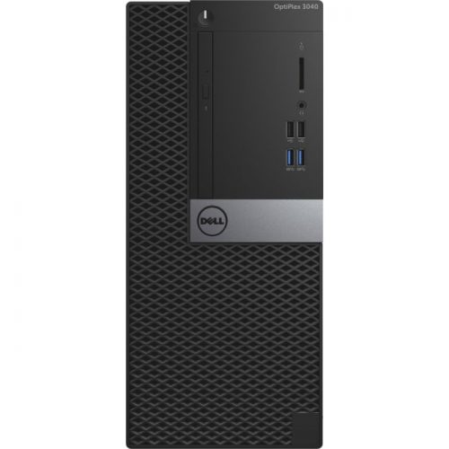 Dell OptiPlex 3000 3040 Desktop Computer - Intel Core i5 (6th Gen) i5-6500 3.20 GHz - 8 GB DDR3L SDRAM - 1 TB HDD - Windows 10 Pro 64-bit (English/French/Spanish) - Mini-tower - Black