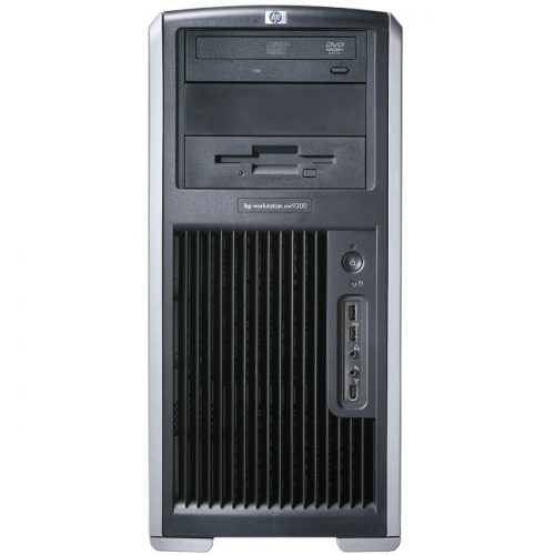 HP xw9300 Workstation - 2 x AMD Opteron 250 2.40 GHz - 2 GB DDR SDRAM - 154 GB HDD - 1 x NVIDIA Quadro FX 3400 256 MB Graphics - Windows XP Professional - Mini-tower - Carbonite, Alloy Metallic
