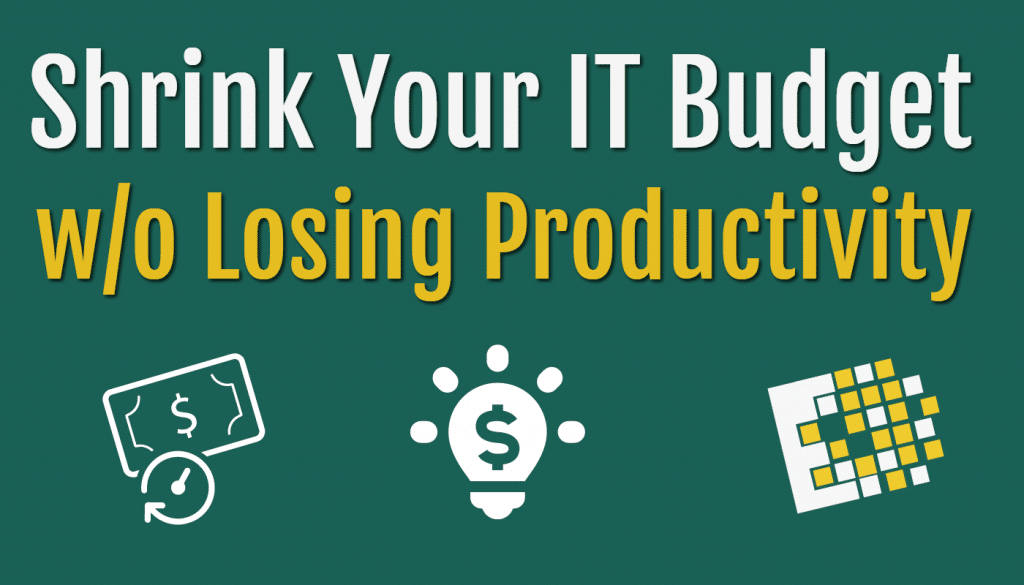 Shrink your IT Budget