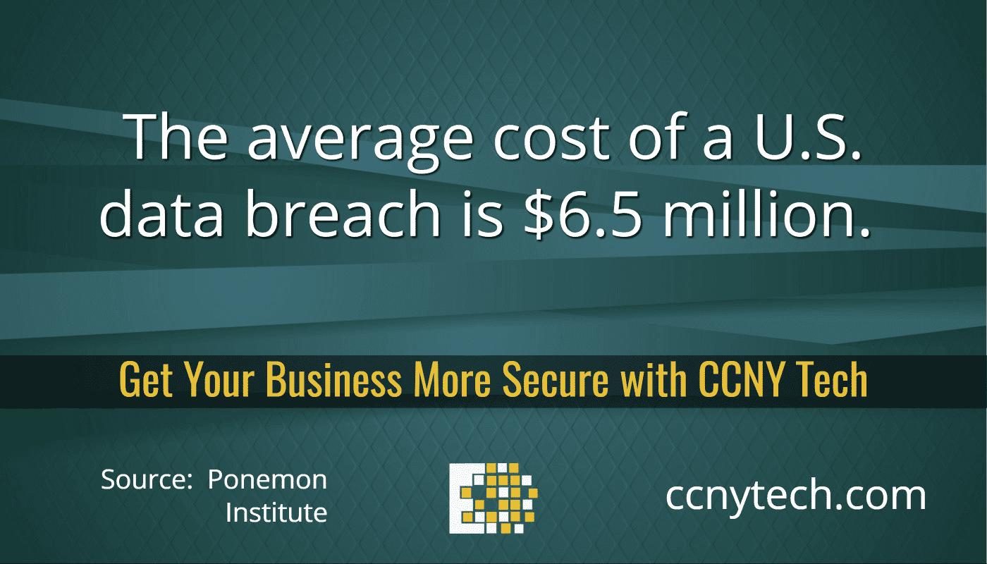6.5 Million cost Data Breach