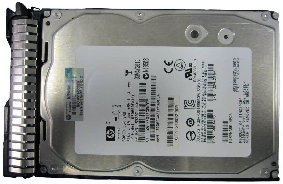 HP 600 GB 3.5 inch Internal Hard Drive