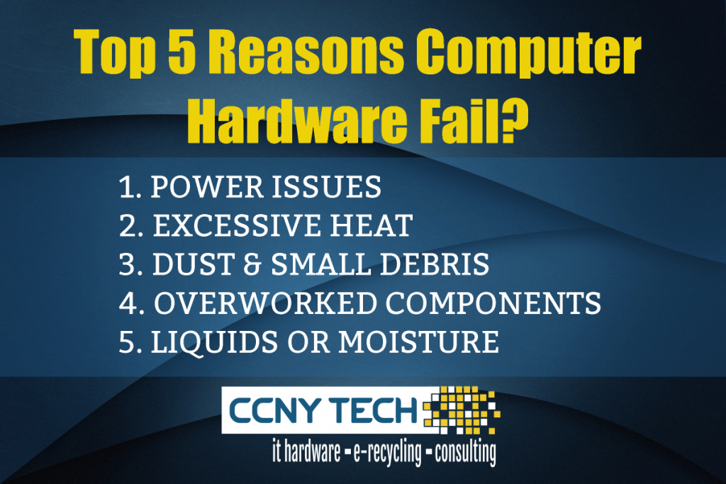 the top 5 reasons computer hardware fail