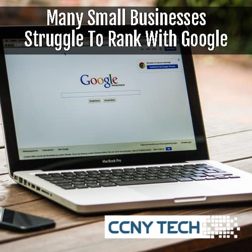 Small Business struggles on Google Rankings Page One