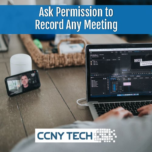 don't record meeting